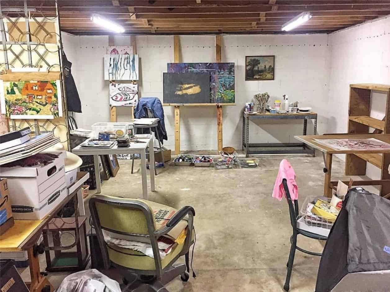 Basement Ideas Art Studio
